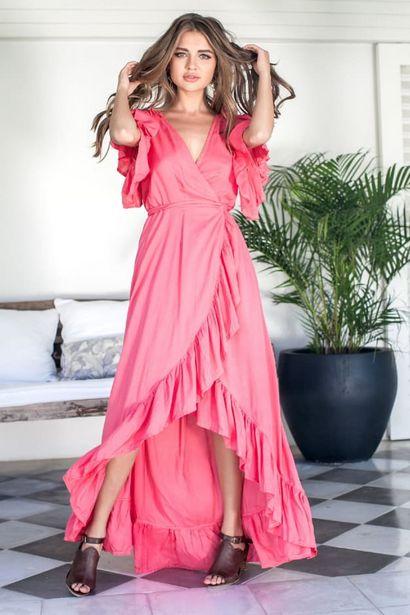 Carmen Wrap Maxi Dress Plus deals at $13895
