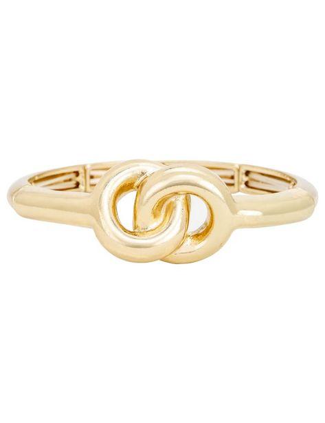 Gold Knot Bangle Bracelet deals at $8.95