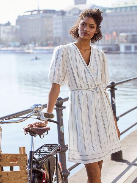 Erin Linen Striped A-Line Dress deals at $48.99