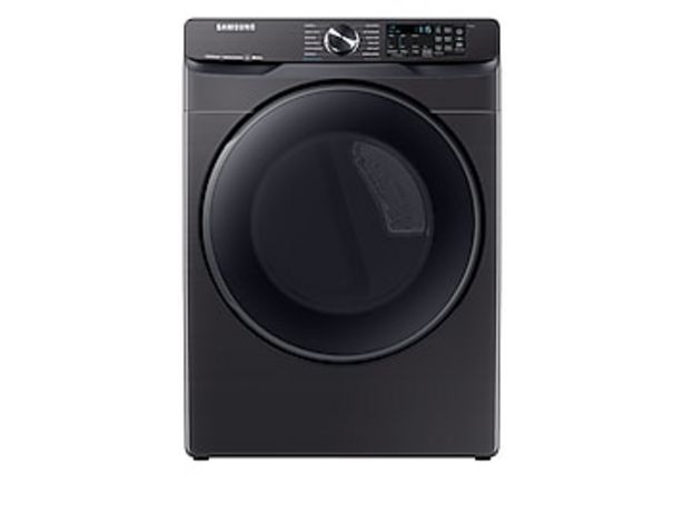 7.5 cu. ft. Smart Gas Dryer with Steam Sanitize+ in Black Stainless Steel deals at $999