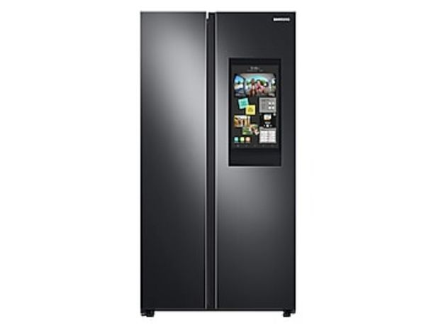 27.3 cu. ft. Smart Side-by-Side Refrigerator with Family Hub™ in Black Stainless Steel deals at $1979