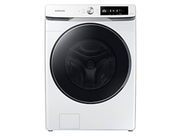 4.5 cu. ft. Large Capacity Smart Dial Front Load Washer with Super Speed Wash in White deals at $829