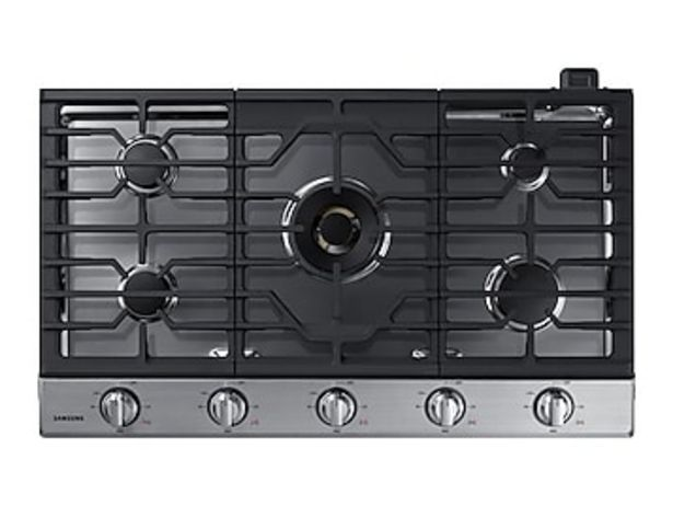 """36"""" Smart Gas Cooktop with 22K BTU Dual Power Burner in Stainless Steel deals at $1574"""