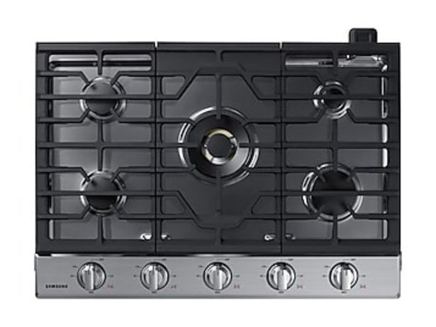 """30"""" Smart Gas Cooktop with 22K BTU Dual Power Burner in Stainless Steel deals at $1484"""