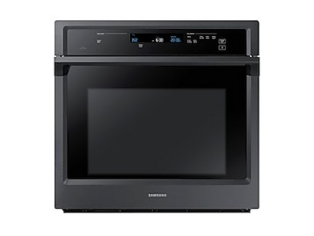 """30"""" Smart Single Wall Oven with Steam Cook in Black Stainless Steel deals at $2429"""