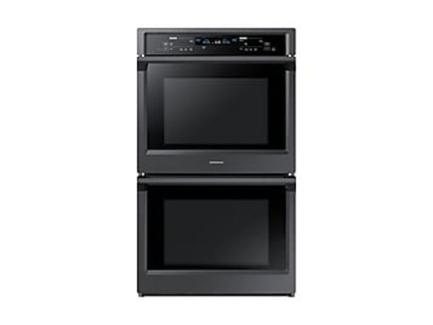 """30"""" Smart Double Wall Oven with Steam Cook in Black Stainless Steel deals at $3419"""
