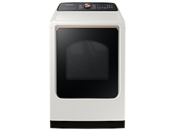 7.4 cu. ft. Smart Electric Dryer with Steam Sanitize+ in Ivory deals at $849
