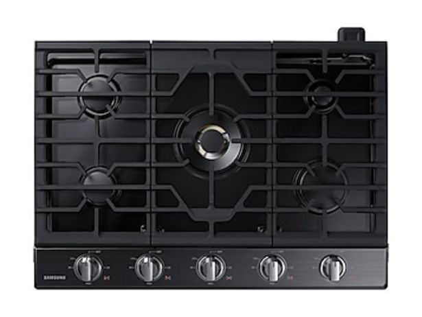 """30"""" Smart Gas Cooktop with 22K BTU Dual Power Burner in Black Stainless Steel deals at $1574"""