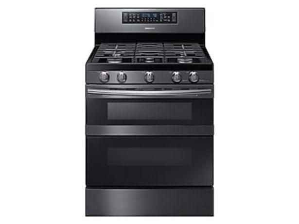 5.8 cu ft. Smart Freestanding Gas Range with Flex Duo™ & Dual Door in Black Stainless Steel deals at $1499