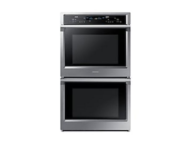 """30"""" Smart Double Wall Oven with Steam Cook in Stainless Steel deals at $3239"""