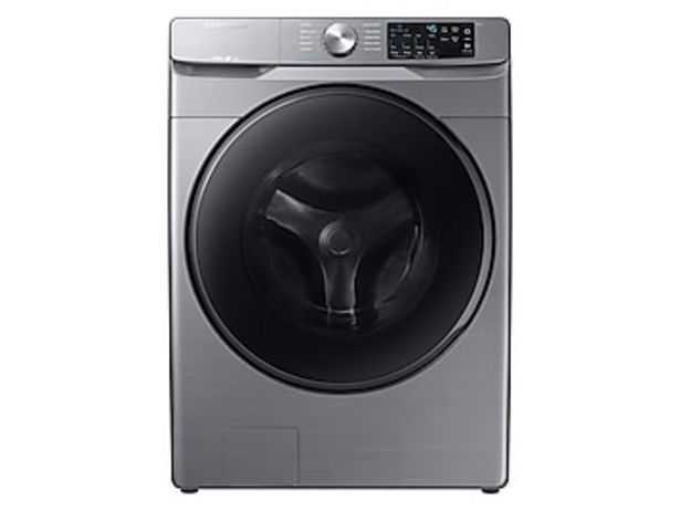 4.5 cu. ft. Front Load Washer with Steam in Platinum deals at $729