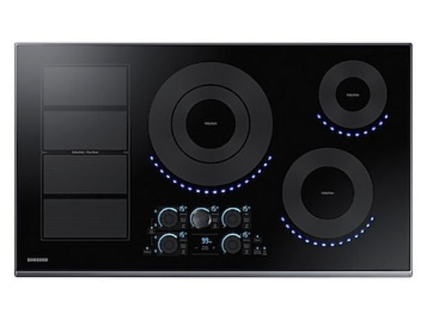 """36"""" Smart Induction Cooktop in Black Stainless Steel deals at $2294"""