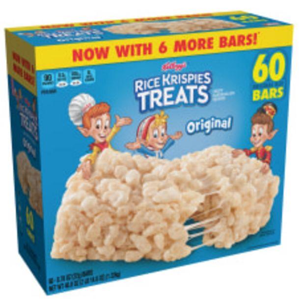Kelloggs Rice Krispies Treats Original Bars deals at $14.49