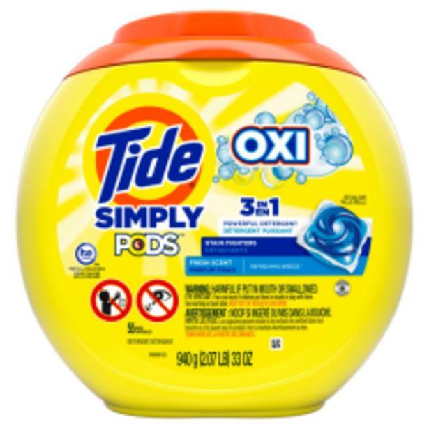 Tide Simply PODS Oxi Liquid Laundry deals at $12.99