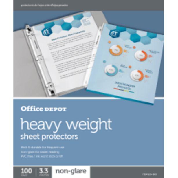 Office Depot Brand Heavyweight Sheet Protectors deals at $18.59