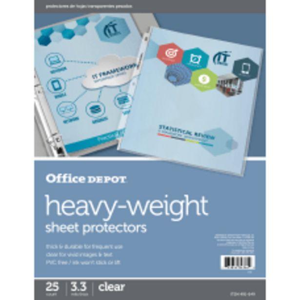 Office Depot Brand Heavyweight Sheet Protectors deals at $6.19