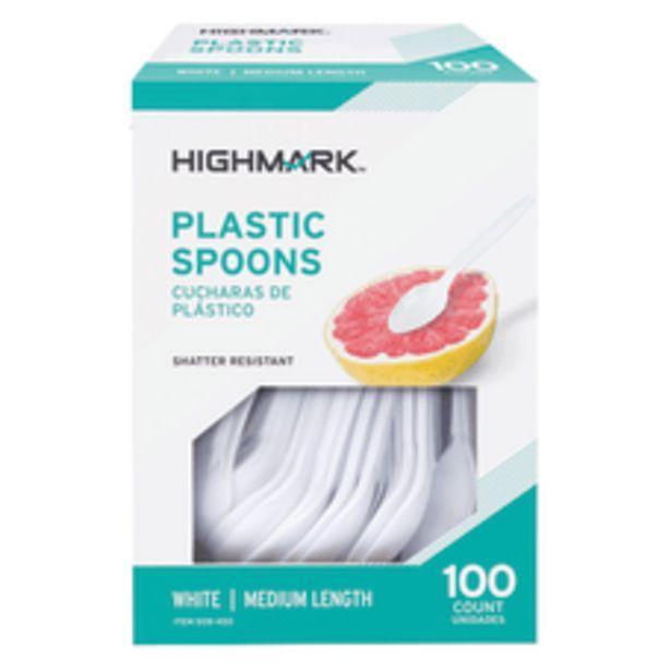 Highmark Medium Length Plastic Cutlery Spoons deals at $5.09