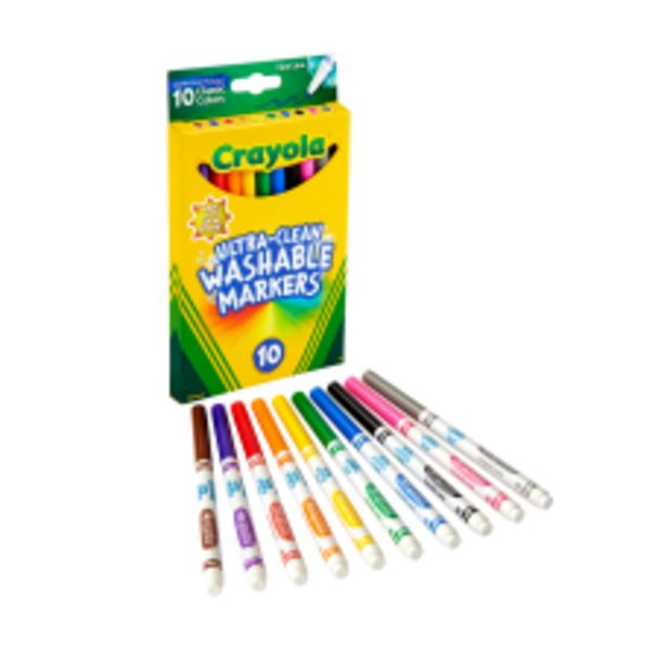 Crayola Ultra Clean Washable Markers Fine deals at $6.09