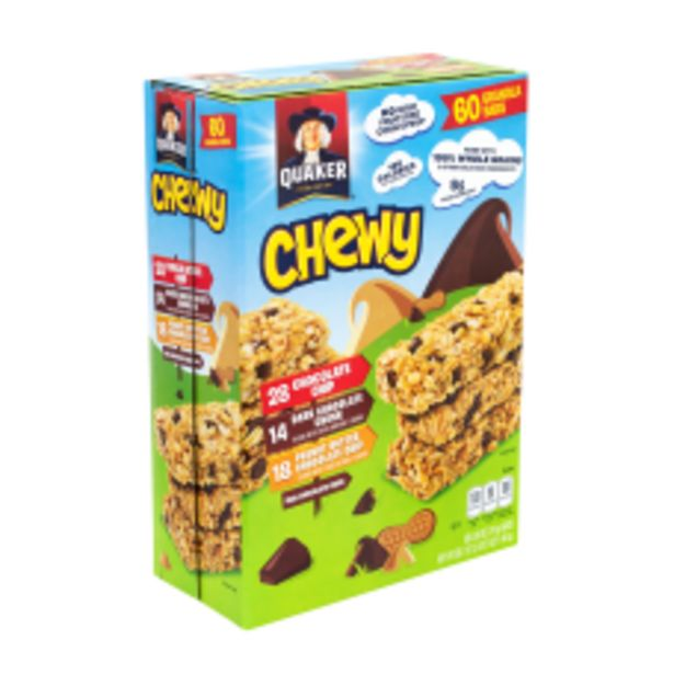 QUAKER Chewy Granola Bar Chocolate Chip deals at $30.49