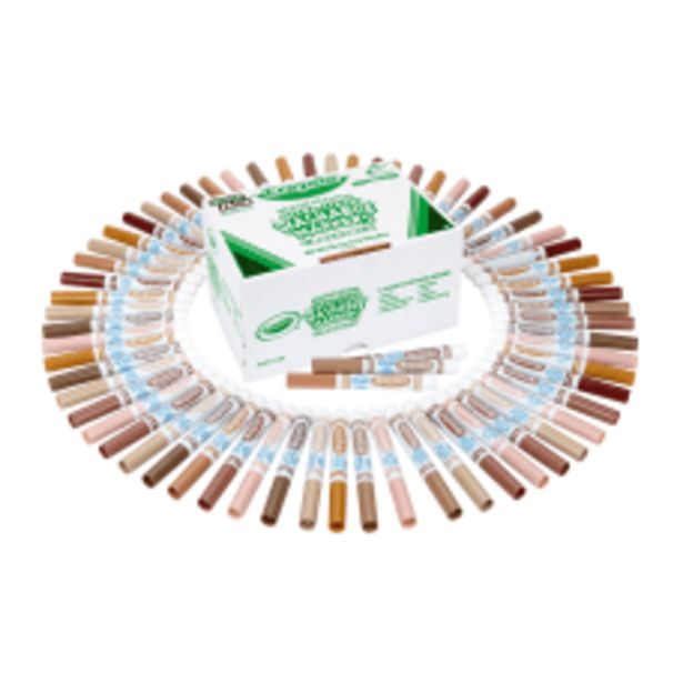 Crayola Multicultural Washable Markers Classpack Assorted deals at $45.69