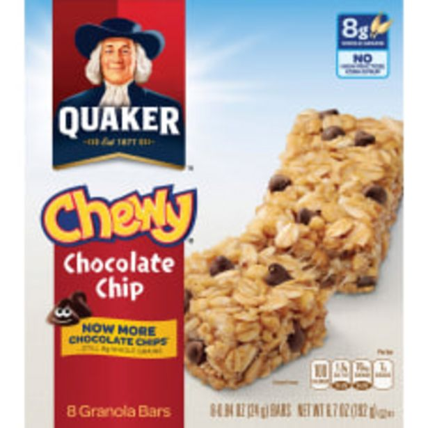Quaker Oats Chocolate Chip Chewy Granola deals at $7.39