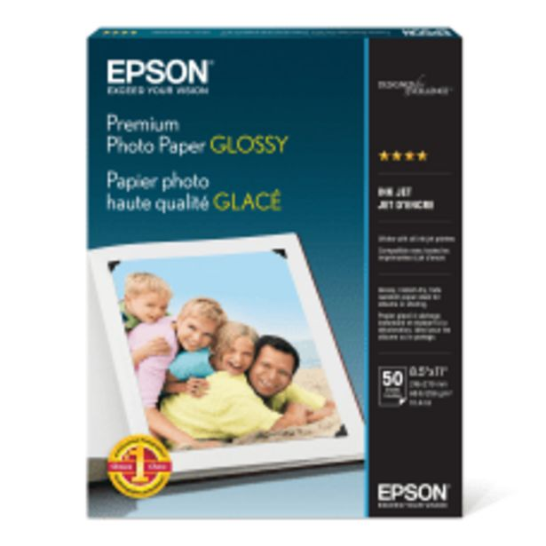Epson Premium Glossy Photo Paper Letter deals at $37.59