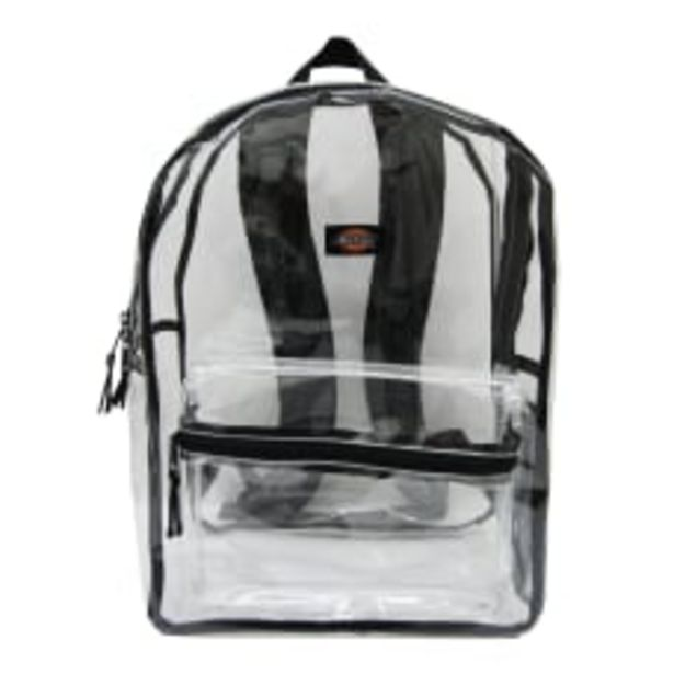 Dickies Clear PVC Laptop Backpack Black deals at $25.39
