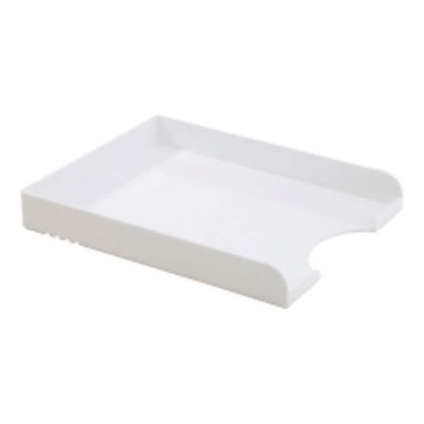 Realspace Plastic Letter Tray White deals at $10.19