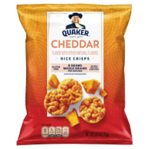 Quaker Cheddar Cheese Popped Rice Crisps deals at $42.69