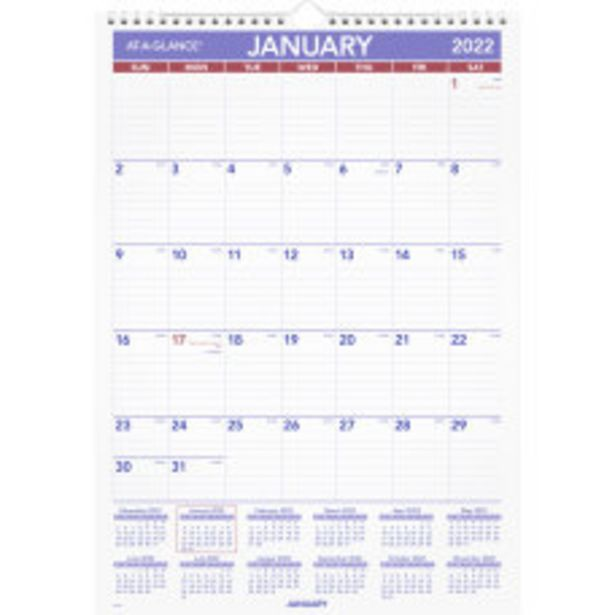 AT A GLANCE Monthly Wall Calendar deals at $18.99