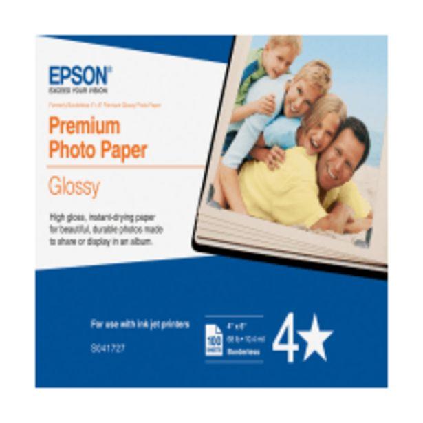 Epson Premium Glossy Photo Paper 4 deals at $19.29