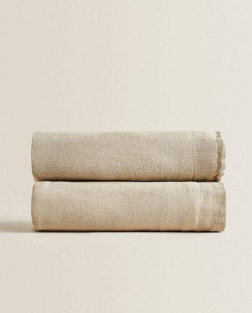Natural Linen Bedspread deals at $199