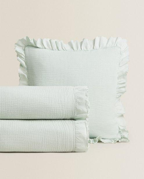 Ruffle Trim Bedspread deals at $49.9
