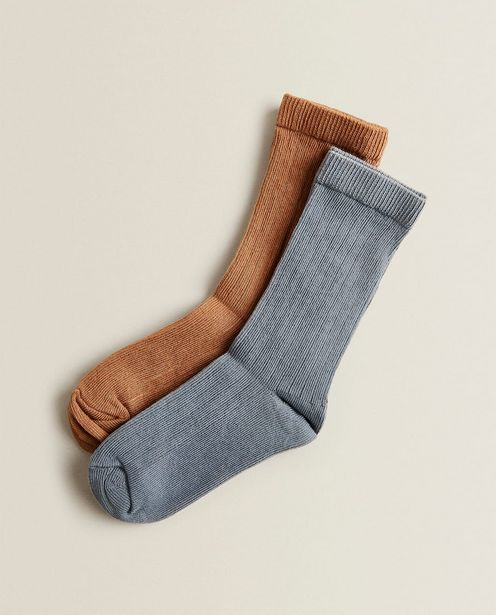 Ribbed Socks (Pack Of 2) deals at $14.9
