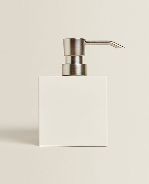White Lacquered Soap Dispenser deals at $22.9