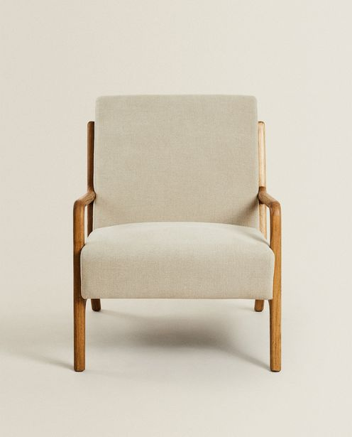 Ash Wood And Linen Armchair deals at $499
