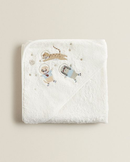 Embroidered Dog Astronaut Hooded Towel deals at $29.9