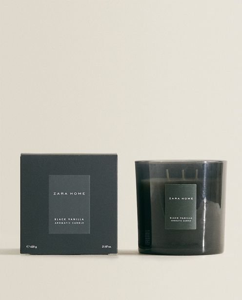 (620 G) Black Vanilla Scented Candle deals at $25.9