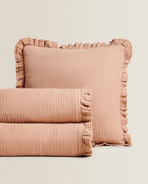 Cotton Bedspread With Ruffle Trim deals at $69.9
