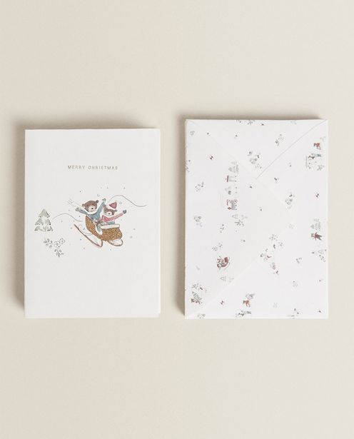 Cards With Teddy Bears In The Snow deals at $9.9