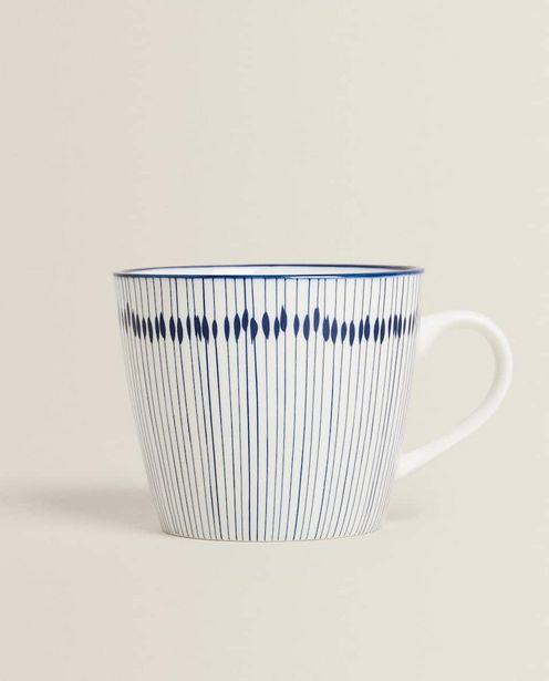 Porcelain Mug With Line Design deals at $9.9