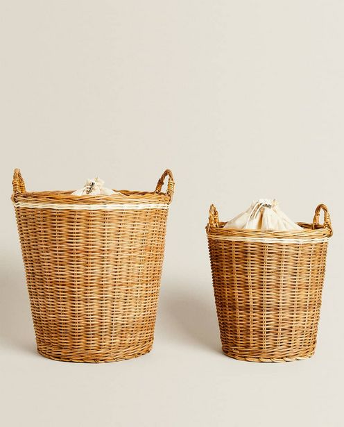 Rattan Basket With Lining deals at $49.9