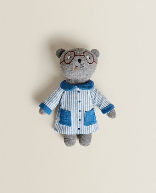 Plush Toy Bear With Blue Smock deals at $25.9