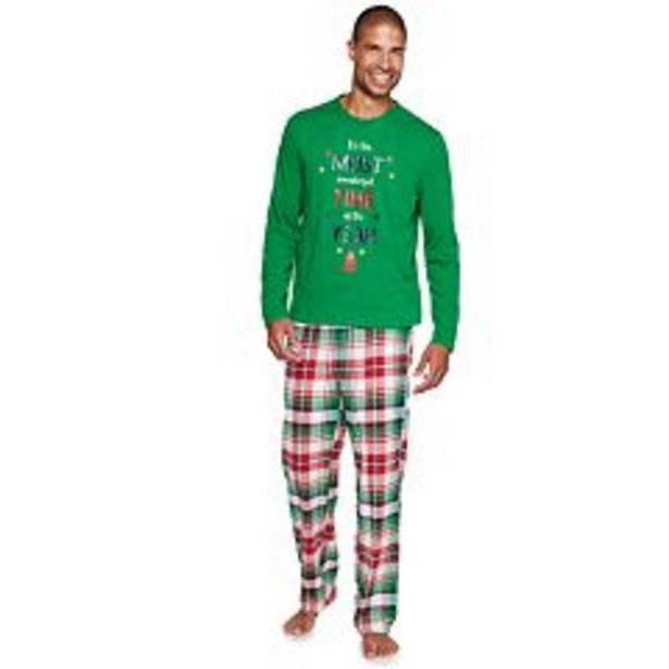 """Men's Jammies For Your Families® Christmas Kitsch """"Wonderful Time of The Year"""" Pajama Set deals at $35"""