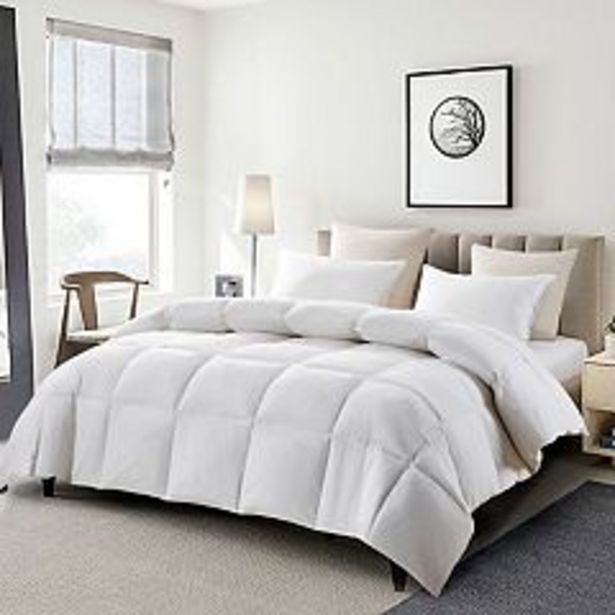 Serta® White Goose Feather & Down Comforter - All Seasons Warmth deals at $65.99