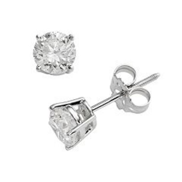 14k White Gold 1-ct. T.W. IGI Certified Round Cut Diamond Solitaire Earrings deals at $2000