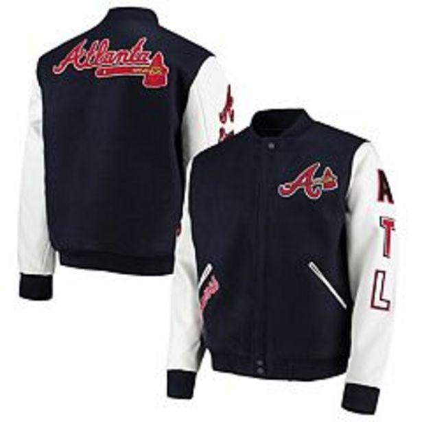 Men's Pro Standard Navy/White Atlanta Braves Varsity Logo Full-Zip Jacket deals at $197.99