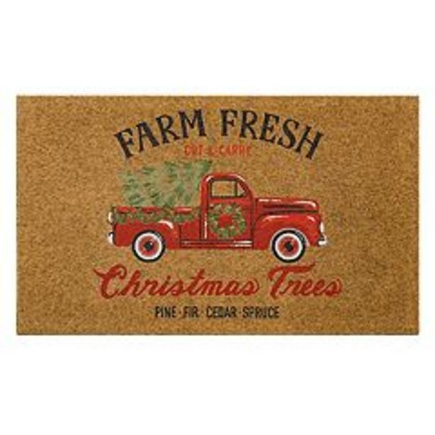 St. Nicholas Square® Red Truck All Weather Doormat - 18'' x 30'' deals at $17.99