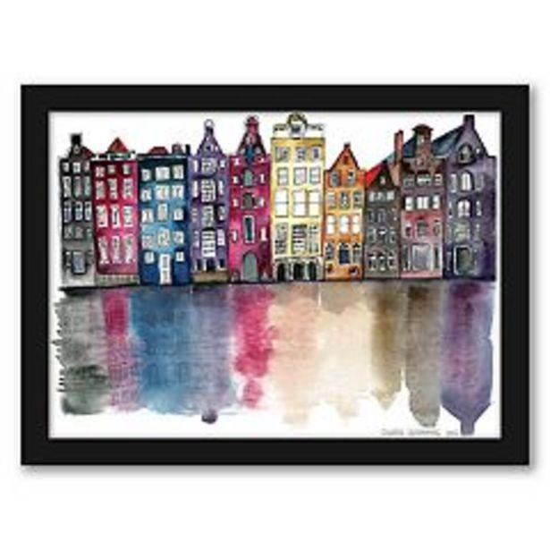 "Americanflat ""Amsterdam"" Framed Wall Art deals at $50.69"