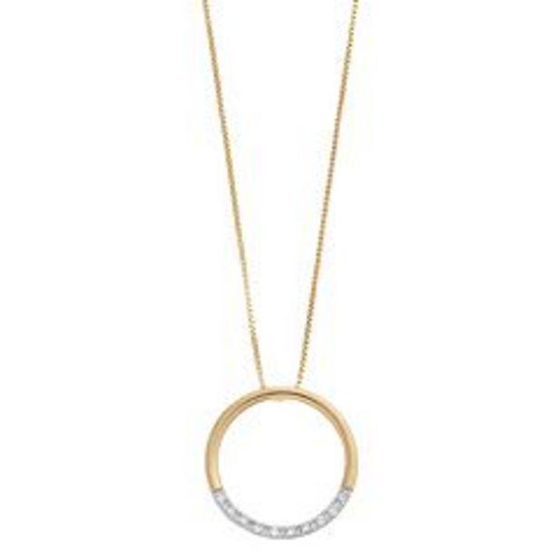 Delicate Diamonds Sterling Silver 1/10 Carat T.W. Diamond Circle Pendant Necklace deals at $39.99